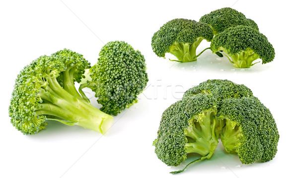 Stockfoto: Vers · ruw · groene · broccoli · stukken · gesneden