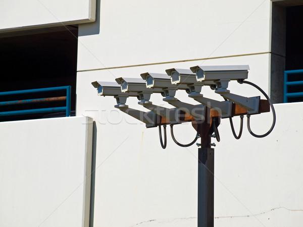 Group of Five Security Cameras Stock photo © Frankljr