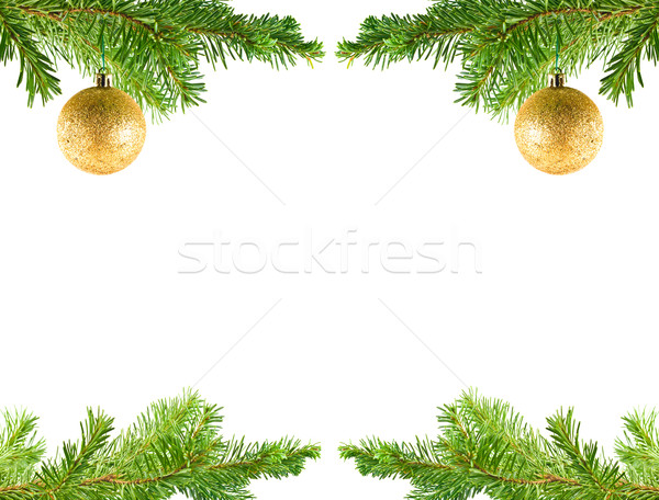 Christmas Tree Holiday Ornament Hanging from a Evergreen Branch  Stock photo © Frankljr
