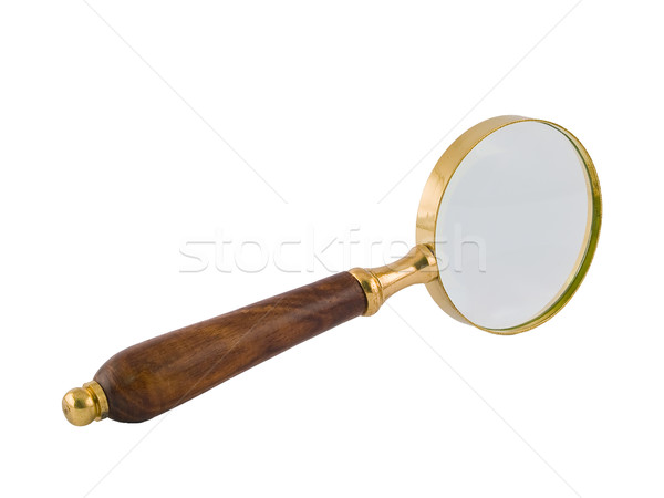 A brass and wood magnifying glass Stock photo © Frankljr