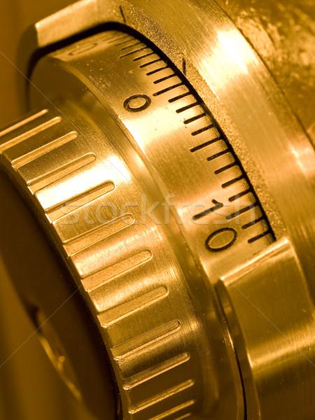 Primer plano segura combinación oro negocios Foto stock © Frankljr