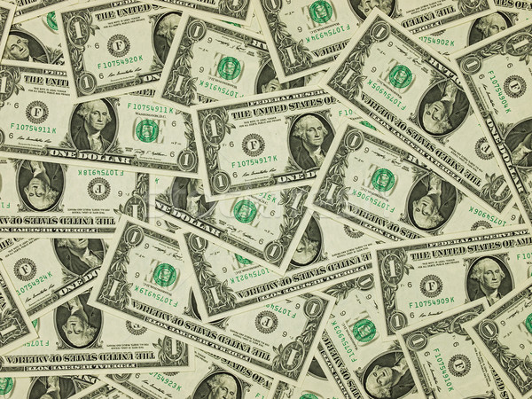 A Pile of One Dollar Bills as a Money Background Stock photo © Frankljr