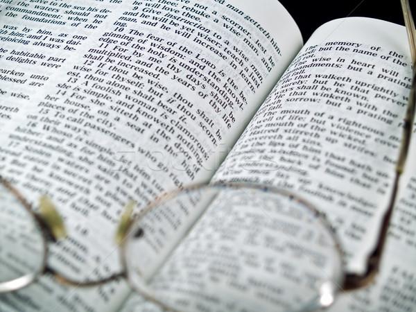Bible livre verres lettre dieu Photo stock © Frankljr