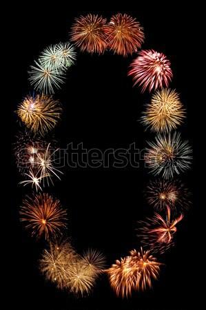 Tűzijáték szám nulla égbolt buli tűz Stock fotó © Frankljr