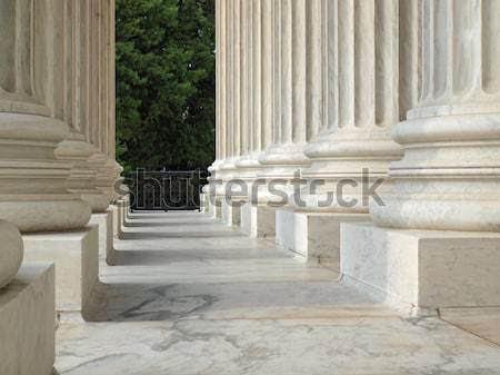 Foto stock: Columnas · Estados · Unidos · tribunal · Washington · DC · edificio · luz
