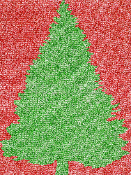 Denim Fabric in Christmas Colors  Stock photo © Frankljr