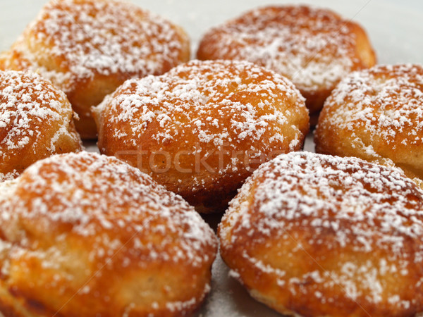 A Plate of Freshly Made Aebelskivers with Powdered Sugar Stock photo © Frankljr