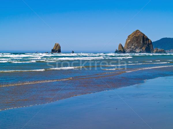 Ruig strand Oregon kust hooiberg rock Stockfoto © Frankljr