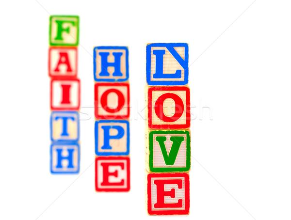 красочный алфавит блоки веры надежды любви Сток-фото © Frankljr