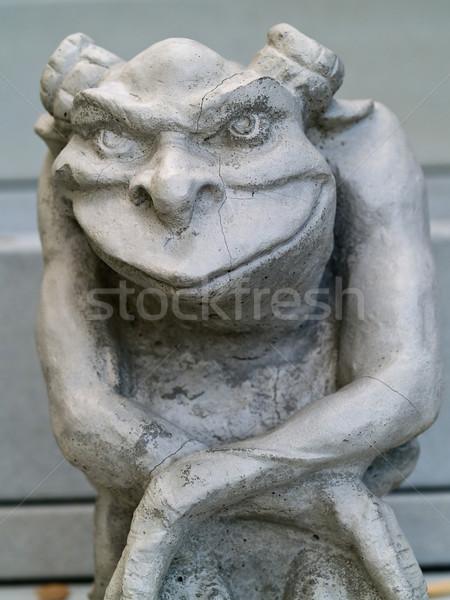 Estatua énfasis cara ojos arte muerte Foto stock © Frankljr