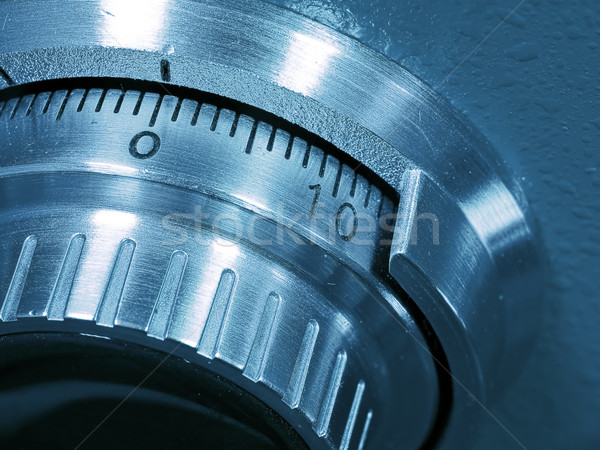 Closeup of a Safe Vault Combination Spinner Stock photo © Frankljr