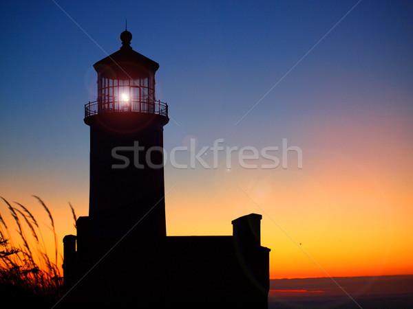 Lighthouse on the Washington Coast at Sunset Stock photo © Frankljr