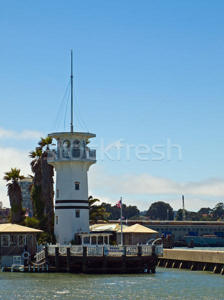Faro muelle San Francisco California EUA casa Foto stock © Frankljr