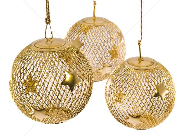 üreges arany drót háló karácsony dísz Stock fotó © Frankljr