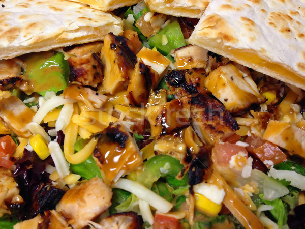 Fresh Southwestern Style Salad with Cheese Quesadilla Stock photo © Frankljr