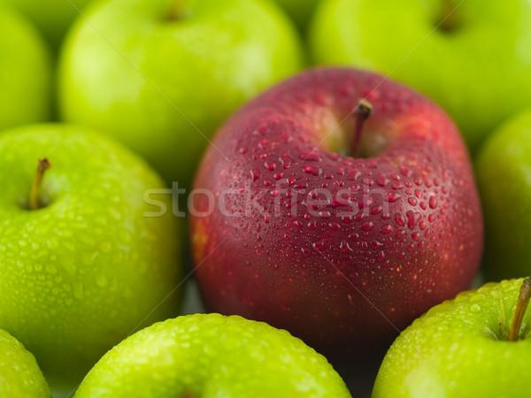 Zielone jabłka czerwony jabłko skóry Zdjęcia stock © Frankljr