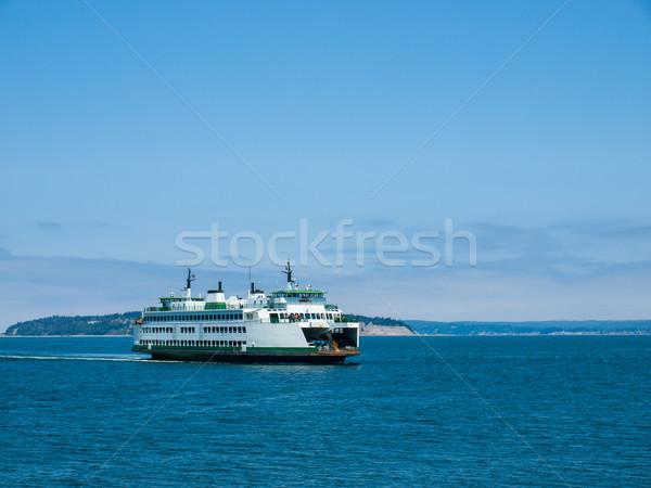 Pont Washington water landschap oceaan kompas Stockfoto © Frankljr