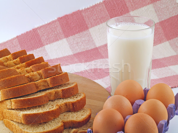 Milk, Eggs, and Bread The Breakfast Staples Stock photo © Frankljr