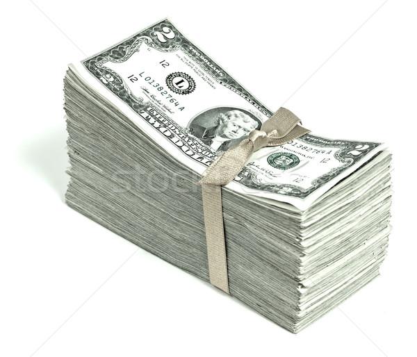 Foto stock: Estados · Unidos · moeda · fita · negócio · dinheiro
