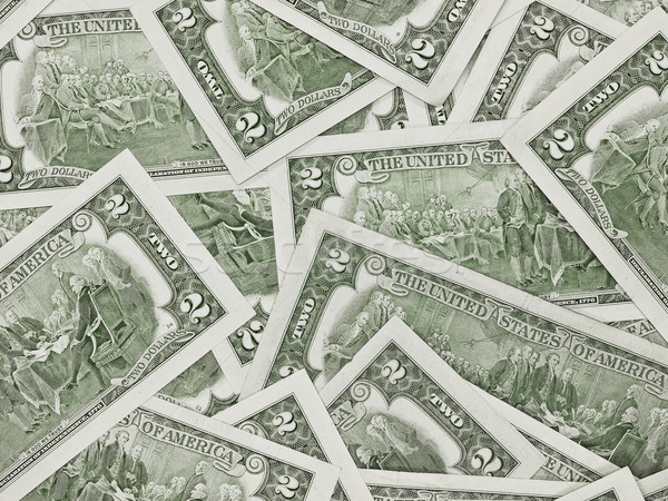 A Pile of Two Dollar Bills Face Down as a Money Background Stock photo © Frankljr