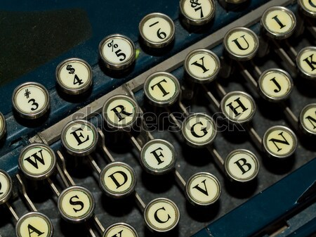 Closeup of a Old, Manual Typewriter Keyboard Stock photo © Frankljr