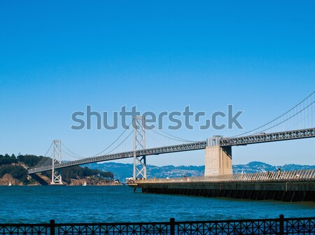 San Francisco Bay Bridge on a Clear Day with a Bright Blue Sky Stock photo © Frankljr