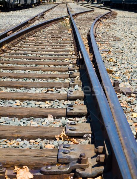 Old Railroad Tracks at a Junction Stock photo © Frankljr