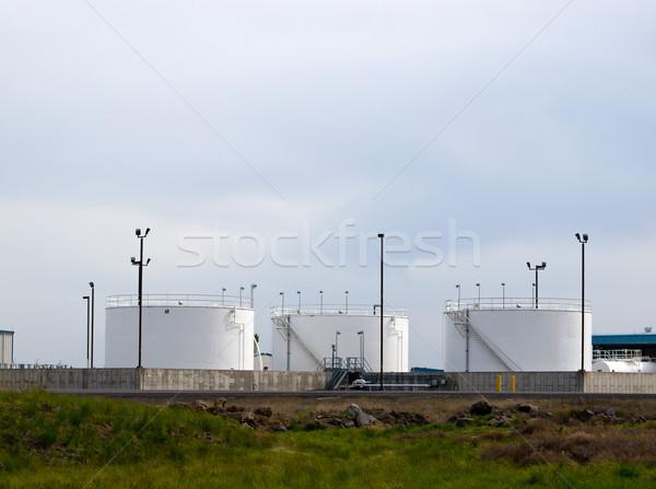 Stockfoto: Witte · brandstof · veld · metaal · olie · energie