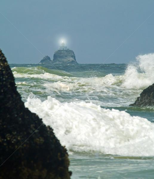 Straszny latarni Oregon wybrzeża świetle Zdjęcia stock © Frankljr
