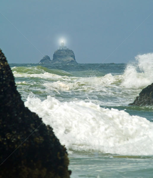 Terribile faro Oregon costa luce splendente Foto d'archivio © Frankljr