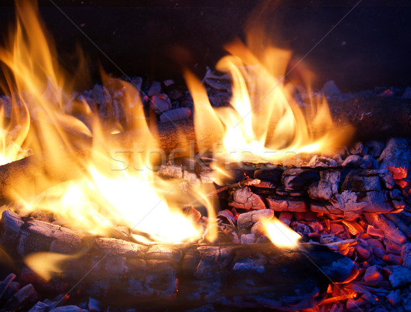 Flames and Embers Stock photo © Frankljr