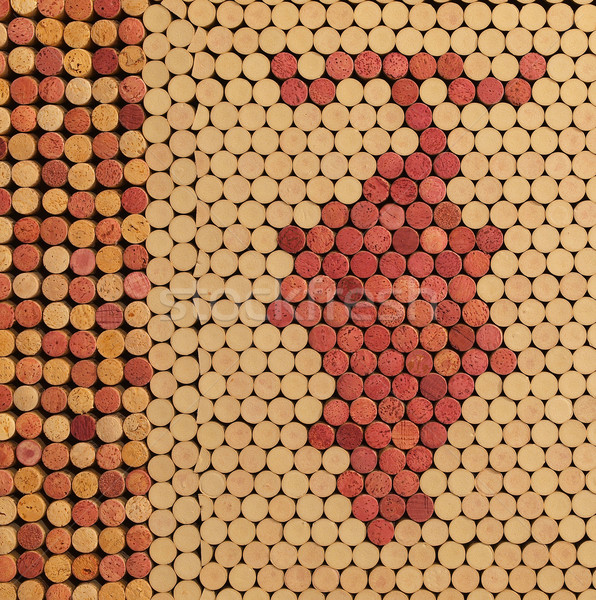 Used Wine Corks Grape Cluster Pattern for Background Stock photo © Frankljr