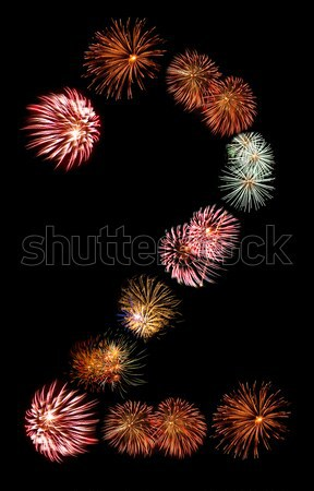 Firework Bursts Arranged in to the Number 2 Stock photo © Frankljr