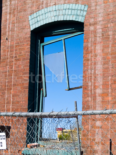 Brick wall and broken window Stock photo © Frankljr