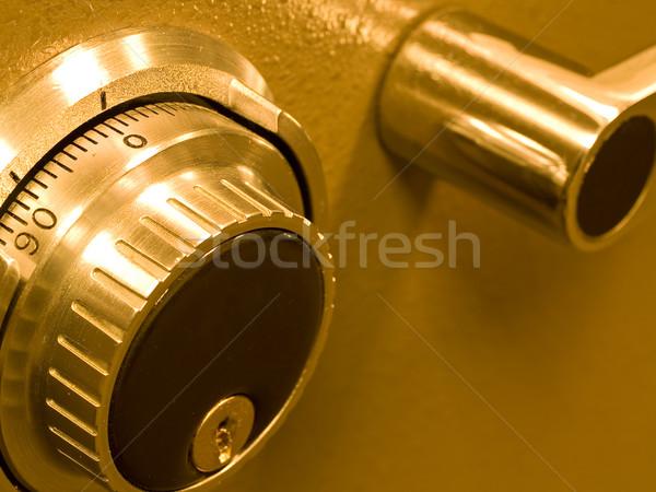 クローズアップ 安全 ボールト 組み合わせ 金 ビジネス ストックフォト © Frankljr