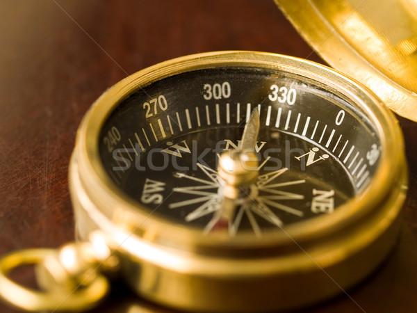 Sárgaréz iránytű öreg absztrakt utazás igazgató Stock fotó © Frankljr