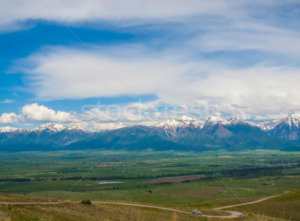 Montanha vale ver bisão Montana EUA Foto stock © Frankljr