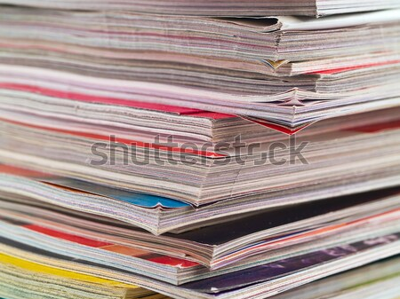 Magazines Unevenly Stacked Edge Focus Stock photo © Frankljr