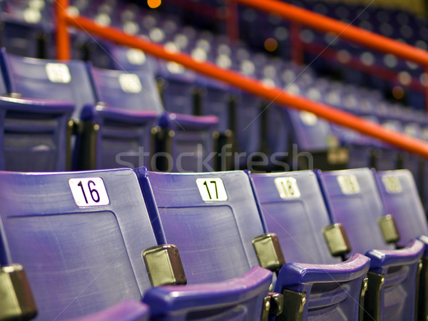 Blue Folding Seats at an Indoor Sports Arena Stock photo © Frankljr
