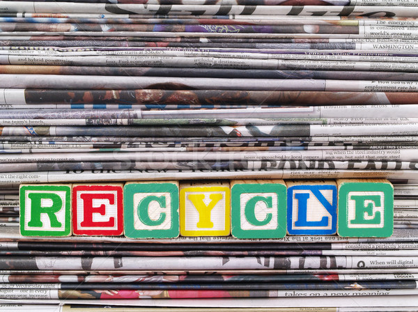 Giornali parola riciclare carta news Foto d'archivio © Frankljr