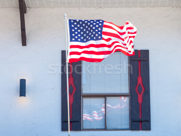 American Flag Reflecting in the Window Stock photo © Frankljr