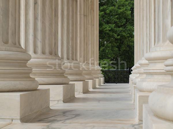 Oszlopok Egyesült Államok bíróság Washington DC üzlet épület Stock fotó © Frankljr