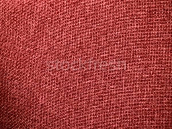 Toile de jute rouge tissu texture horizons Photo stock © Frankljr