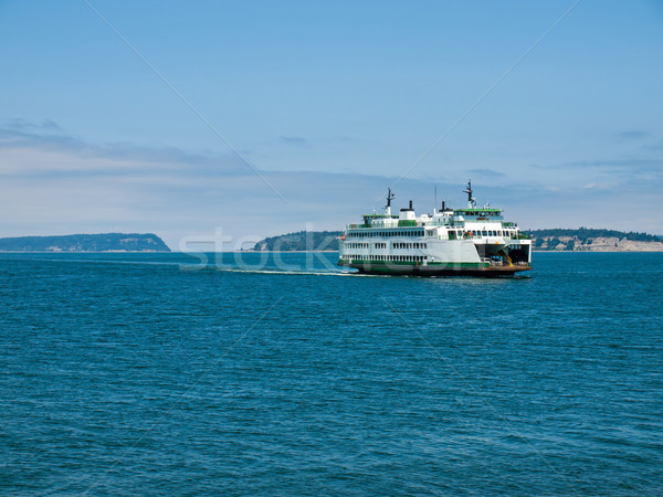 Feribot Washington su manzara okyanus pusula Stok fotoğraf © Frankljr