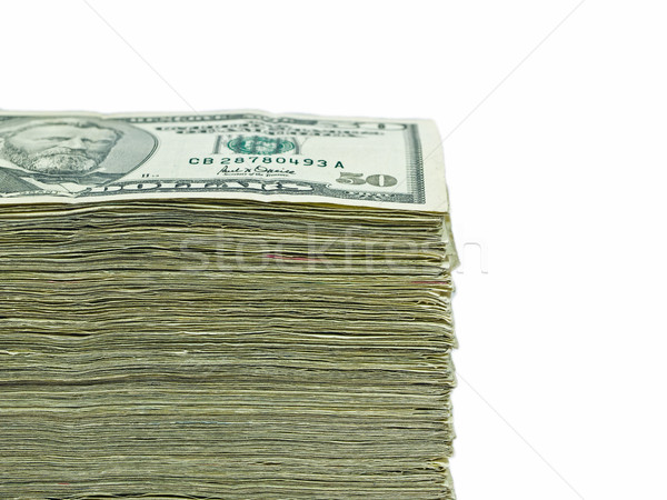 Stack of United States currency background - fifty dollar bills Stock photo © Frankljr