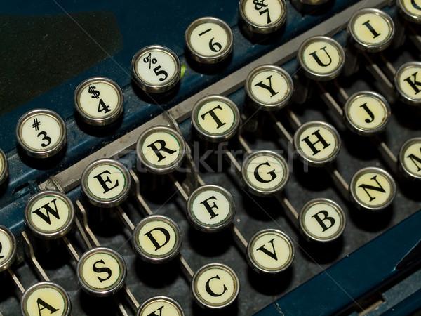 Closeup of a Old, Manual Typewriter Keyboard Stock photo © Frankljr