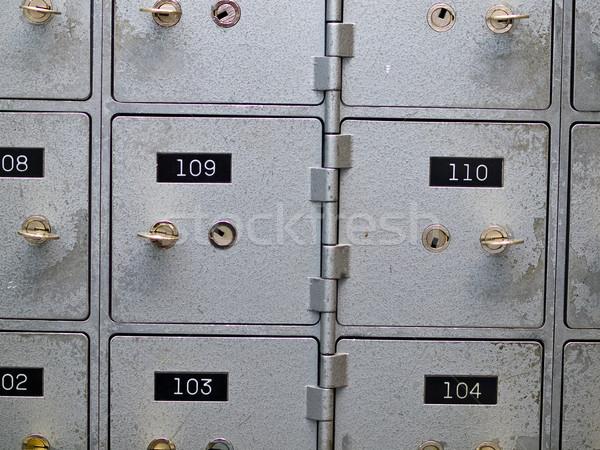 Sécurité dépôt cases vieux gris résumé Photo stock © Frankljr