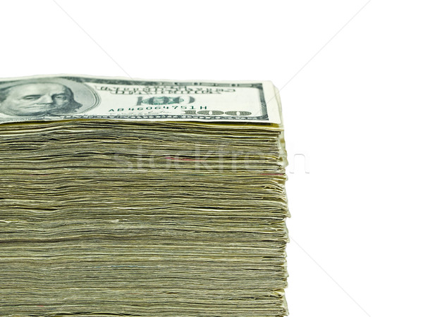 Stack of United States currency background - hundred dollar bills Stock photo © Frankljr