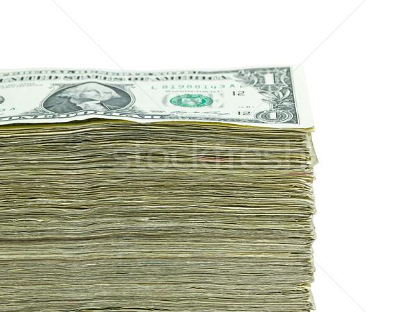 Stack of United States currency background - one dollar bills Stock photo © Frankljr