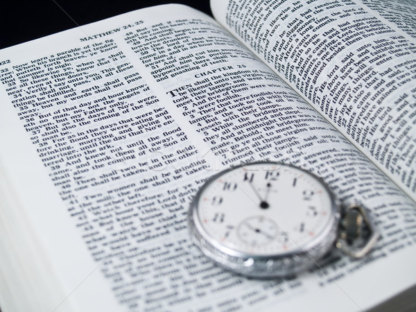 Bible Verse Day and Hour Unknown Stock photo © Frankljr